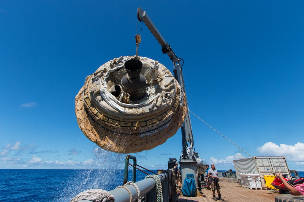 NASA's Low-Density Supersonic Decelerator after its June 2014 test flight. Photo Credit NASA JPL-Caltech