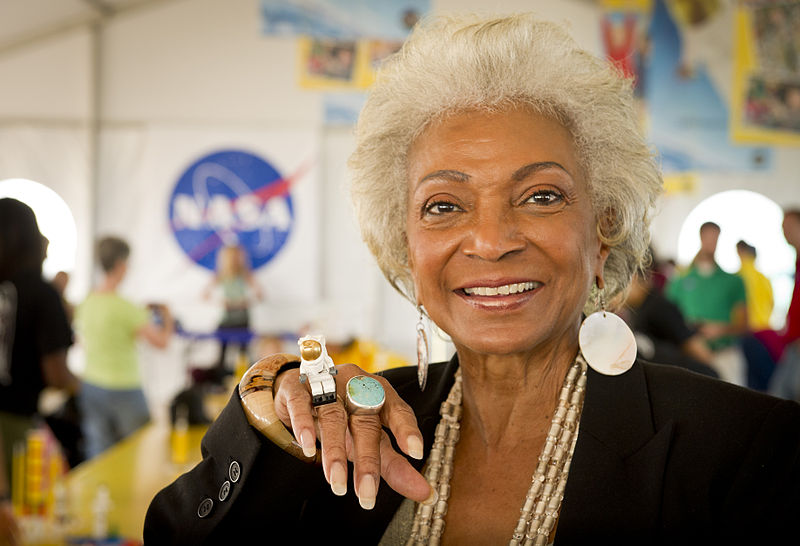 Nichelle Nichols LEGO photo credit Bill Ingalls NASA posted on SpaceFlight Insider