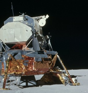 The lunar module Orion in the Descartes Highlands, the Moon. Photo Credit: NASA