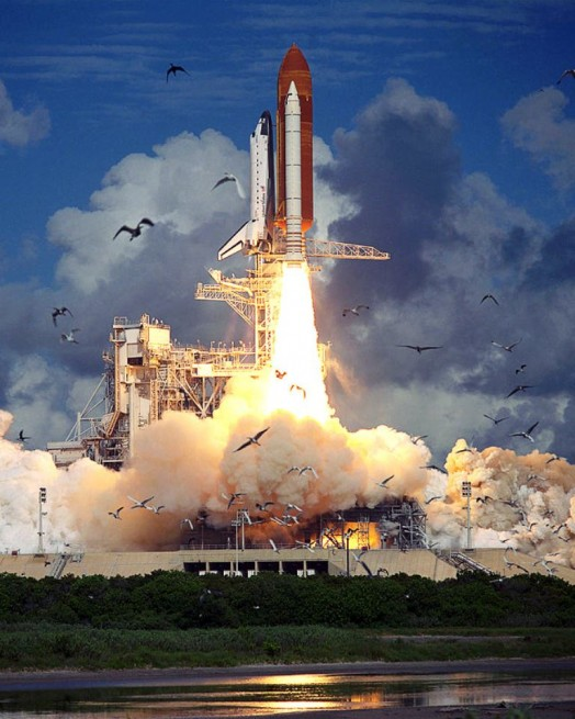 Space shuttle Atlantis STS-57 lifts off from Launch Complex 39A NASA photo posted on SpaceFlight Insider