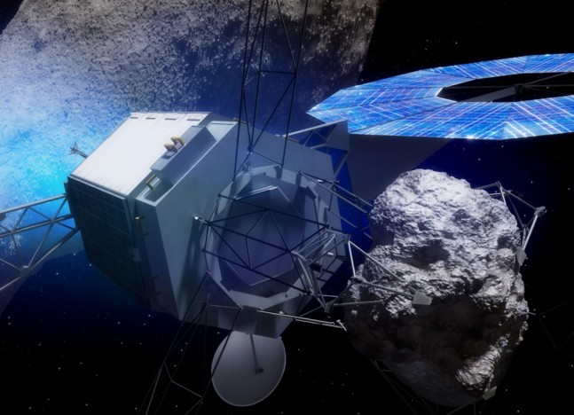 NASA Asteroid Redirect Mission Option B spacecraft carrying asteroid NASA image posted on SpaceFlight Insider
