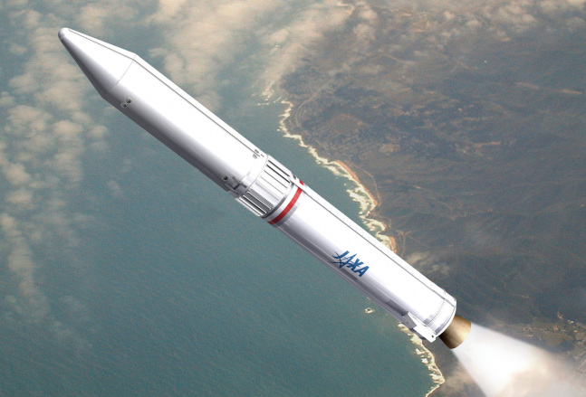 Artist's rendering of the Epsilon rocket in flight. Image Credit: JAXA