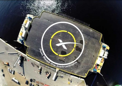 Target drone ship for the SpaceX Falcon 9 landing