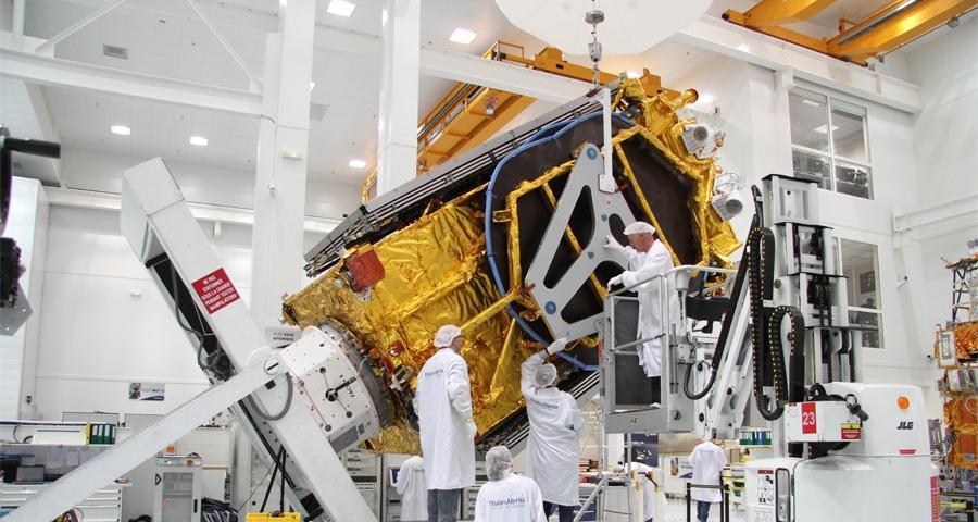Turkamenalem satellite Thales Athenia photo posted on SpaceFlight Insider