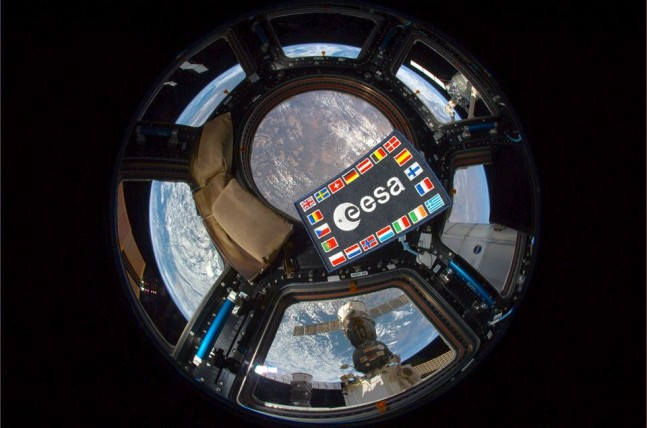 European Space Agency patch at the International Space Station ISS ESA photo posted on SpaceFlight Insider