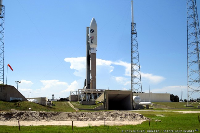 Atlas V AV-026 OTV-2; LO2 tanking prior to launch United-Launch-Alliance-Atlas-V-501-rocket-OTV-Orbital-Test-Vehicle-2-launch-Cape-Canaveral-Air-Force-Station-Space-Launch-Complex-41-SLC-41-photo credit Michael Howard SpaceFlight Insider