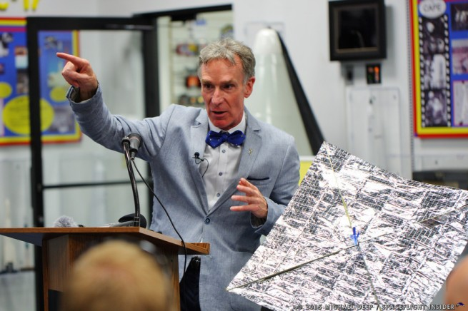 The Planetary Society's Bill Nye The science guy LightSail X-37B AFSPC 5 OTV 4 United Launch Alliance Atlas V 501 photo credit Mike Deep SpaceFlight Insider