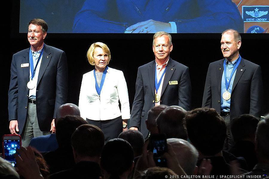 Astronaut Hall of Fame induction ceremony 2015 Kennedy Space Center Visitor Complex Rocket Garden photo credit Mark Usciak SpaceFlight Insider
