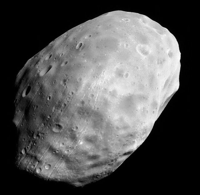 Mars' moon Phobos captured in this NASA image was the intended destination for the 2011 Phobos-Grunt mission. Photo Credit: NASA