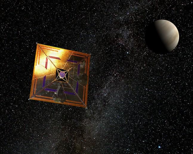 Japan Aerospace Exploration Agency IKAROS solar sail image credit Andrzej Mirecki posted on SpaceFlight Insider
