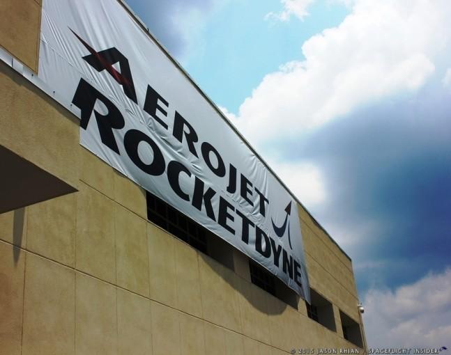 Aerojet Rocketdyne banner Stennis Space Center Mississippi photo credit Jason Rhian SpaceFlight Insider