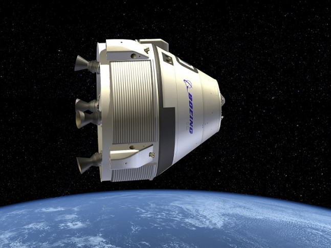 Artist's conception of Boeing's CST-100. Image Credit: Boeing