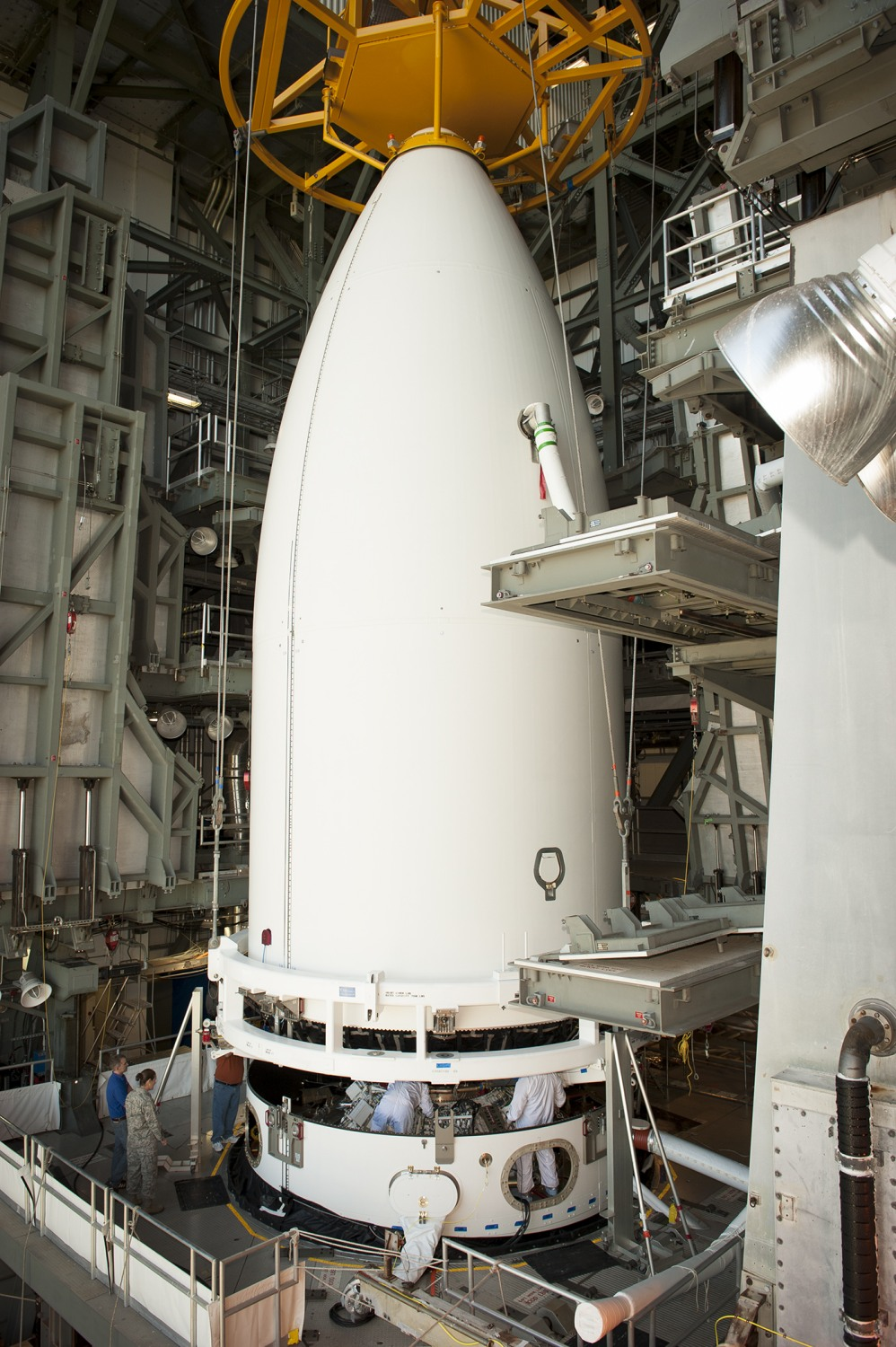 Payload fairing for AFSPC 5 mission United Launch Alliance Atlas V 501 rocket ULA photo posted on SpaceFlight Insider