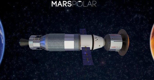 Artist's rendering of the Mars Transportation Vehicle.