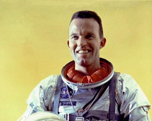 Mercury 7 astronaut Gordon_Cooper_Jr. NASA photo posted on SpaceFlight Insider