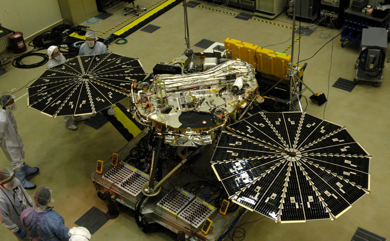 NASA Mars Phoenix lander spacecraft Lockheed Martin NASA image posted on SpaceFlight Insider