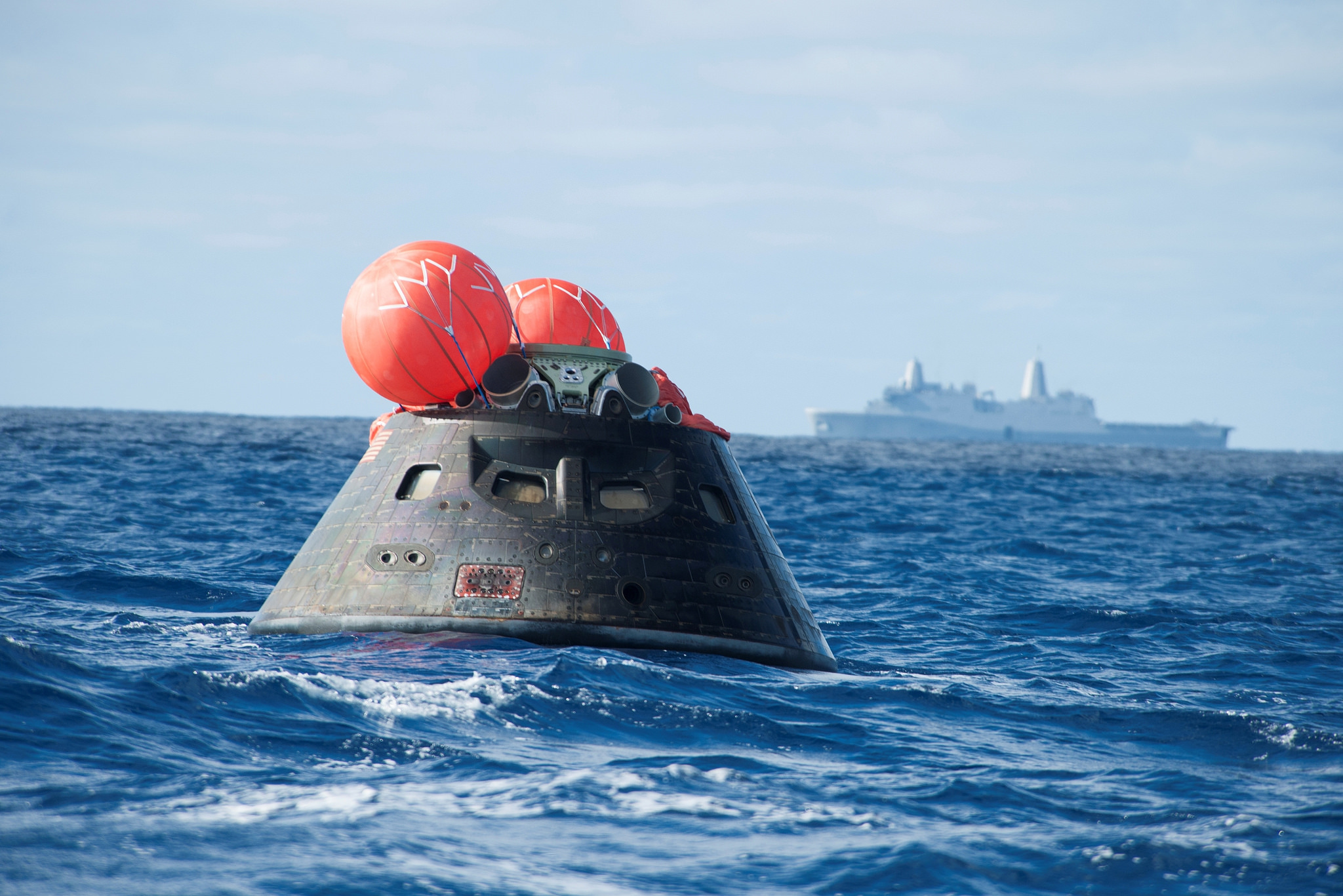 NASA Orion EFT 1 spacecraft Pacific Ocean NASA image posted on SpaceFlight Insider