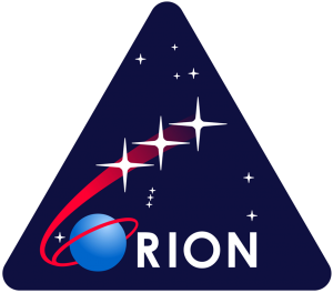Orion spacecraft mission logo