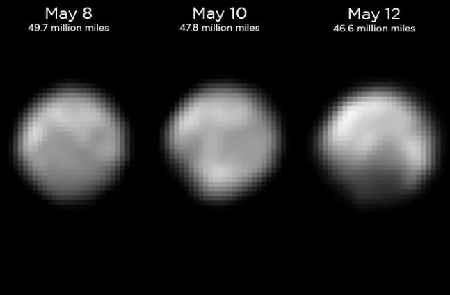 Updated images of Pluto as seen on Spaceflight Insider