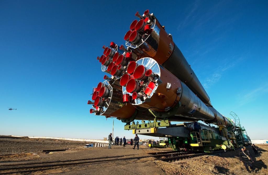 Roscosmos Baikonur Cosmodrone Soyuz rocket photo credit Bill Ingalls NASA