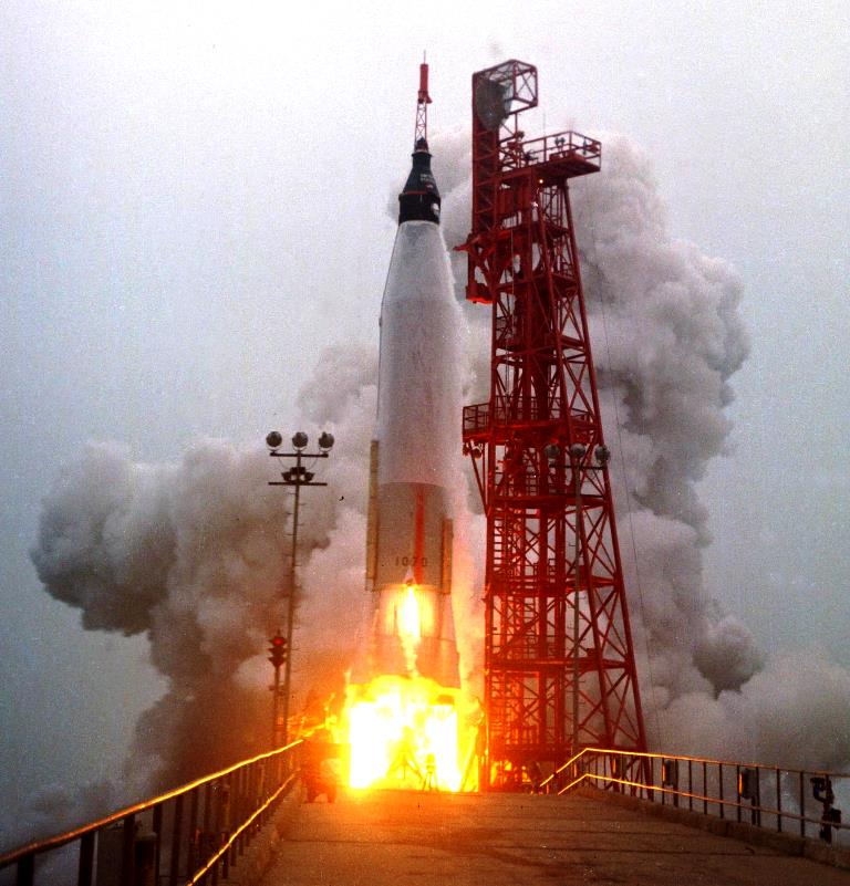 Scott Carpenter Mercury Aurora 7 launch NASA photo posted on SpaceFlight Insider
