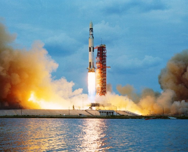 Skylab 1 launches from Kennedy Space Center's Launch Complex 39A on May 14, 1973. NASA photo posted on SpaceFlight Insider
