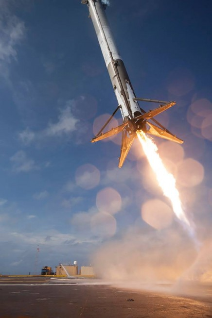 SpaceX Falcon 9 v1.1 ASDS landing attempt 2 photo credit Ben Cooper via Elon Musk on Twitter.jpg-large