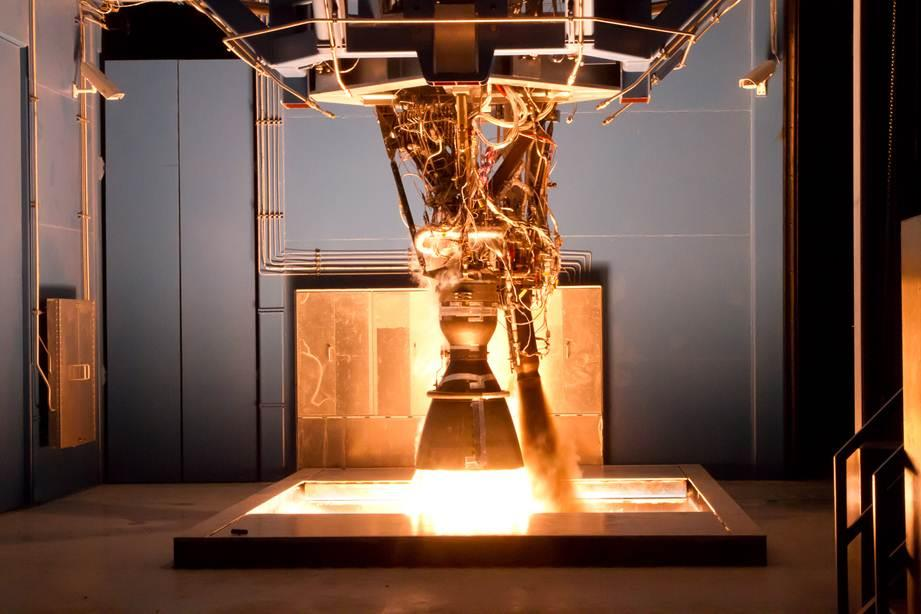 SpaceX_Testing_Merlin_1D_Engine_In_Texas photo credit SpaceX posted on SpaceFlight Insider