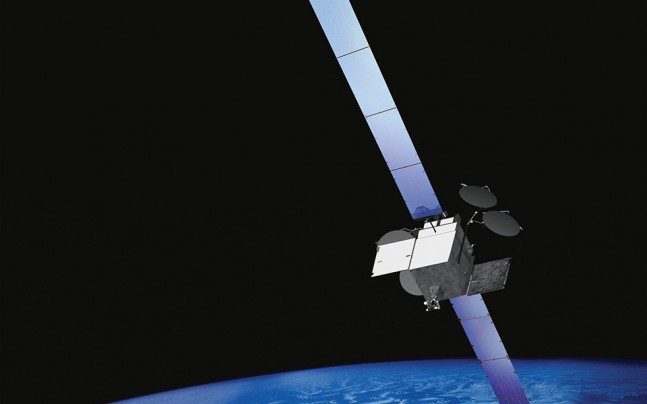 Artistic rendering of a Boeing 702HP satellite, the bus on which MexSat-1 is based. Image Credit: Boeing