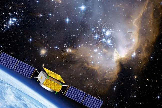 Artist's rendering of DAMPE satellite