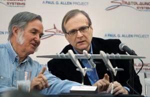 Burt Rutan and Paul Allen at Stratolaunch Announcement