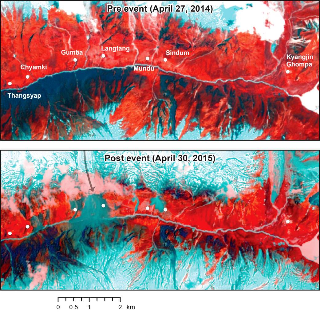 The magnitude 7.8 Gorkha earthquake that struck Nepal on April 25, 2015, caused extensive damage in Kathmandu Valley and severely affected Nepal's rural areas. This LandSat 8 images helps relay the amount of damage inflicted on the region. Image Credit: NASA / USGS