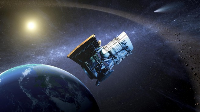 Artist conception of NASA's WISE spacecraft. Image Credit: NASA / JPL-Caltech