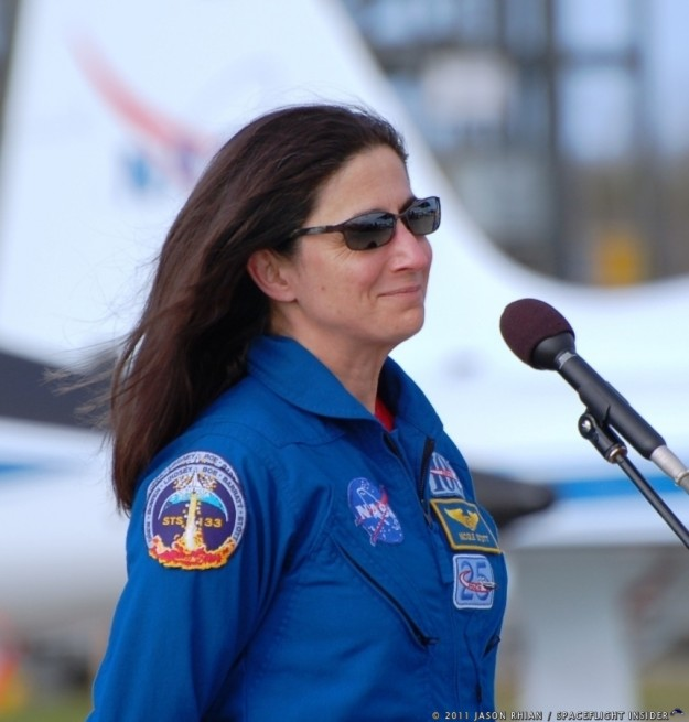 NASA astronaut Nicole P. Stott Kennedy Space Center Shuttle Landing Facility STS-133 photo credit Jason Rhian SpaceFlight Insider