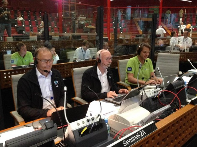 Mission control at Kourou, French Guiana for the Sentinel 2A spacecraft ESA image posted on SpaceFlight Insider