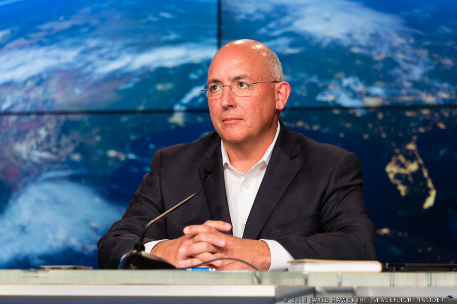 SpaceX Falcon 9 v1.1 rocket explosion  NASA International Space Station Program Manager Mike Suffredini Photo Credit Jared Haworth SpaceFlight Insider