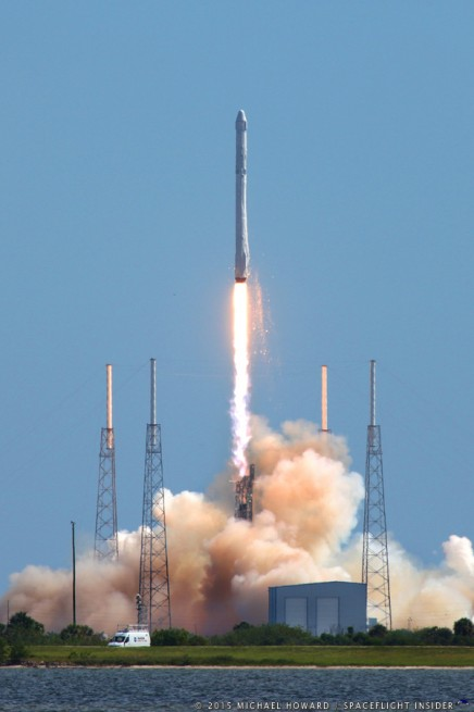 SpaceX Falcon 9 v1.1 rocket lifts off from  Cape Canaveral Air Force Station Space Launch Complex 40 in Florida with a Dragon spacecraft on the CRS 7 mission photo credit Mike Howard SpaceFlight Insider