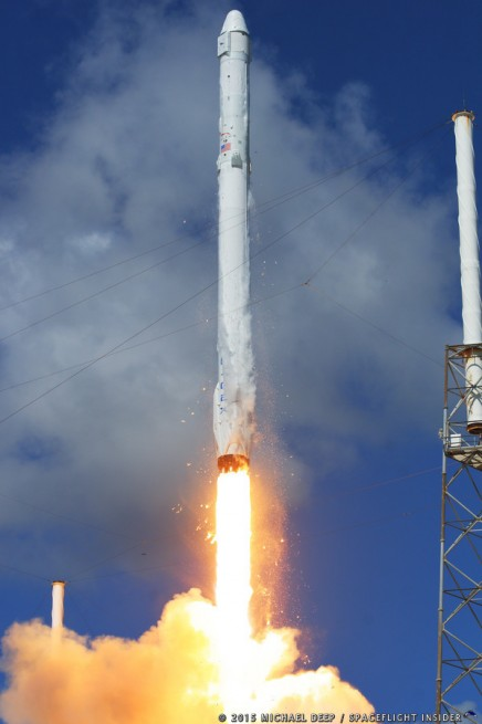 SpaceX Falcon 9 v1.1 rocket lifts off from  Cape Canaveral Air Force Station Space Launch Complex 40 in Florida with a Dragon spacecraft on the CRS 7 mission photo credit Mike Deep SpaceFlight Insider