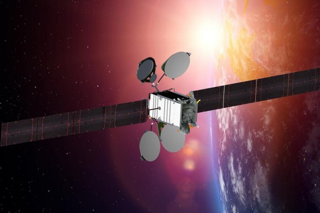 Artist's rendition of the ABS-8 satellite