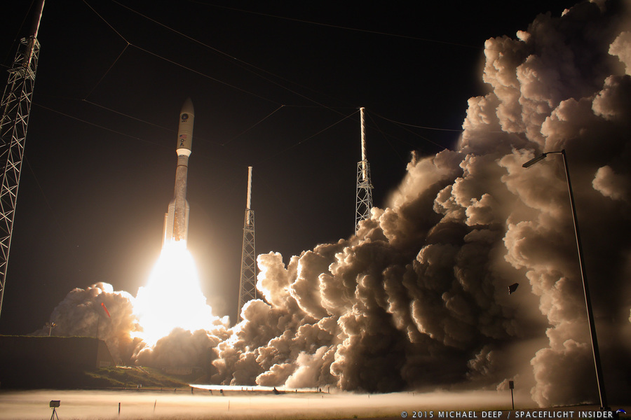 MUOS-3 lifts off from Cape Canaveral's SLC-41 in Florida on Jan. 20, 2015. Photo Credit: Mike Deep / SpaceFlight Insider