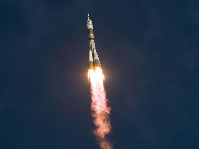 Soyuz rocket launch Baikonur Cosmodrone International Space Station NASA photo posted on SpaceFlight Insider