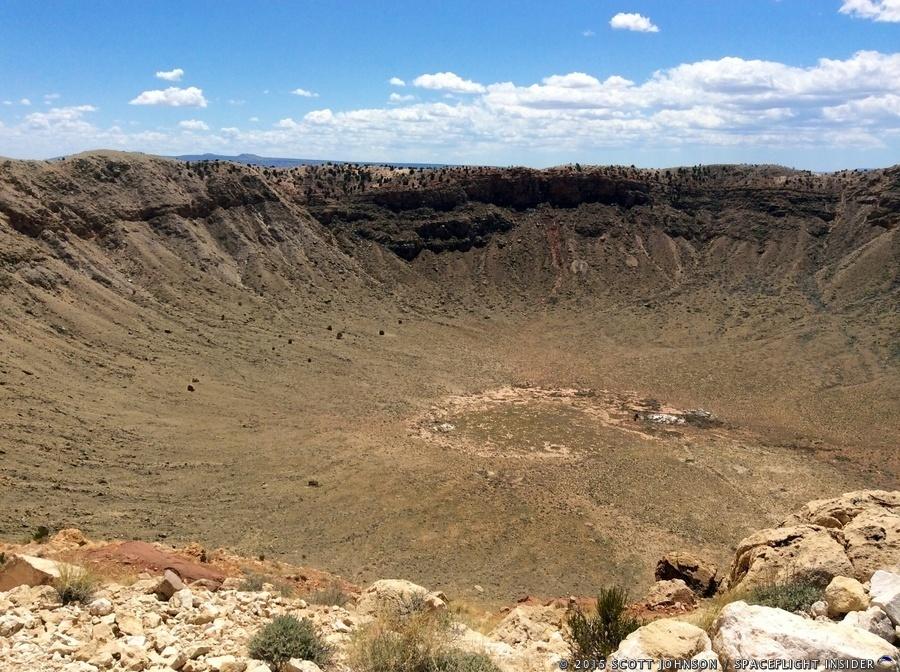 Barringer Crater meteor impact Arizona photo credit Scott Johnson SpaceFlight Insider