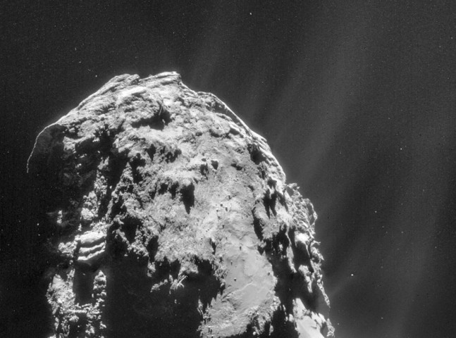 Comet 67P Churyumov-Gerasimenko on Nov. 20, 2014. Image credit ESA Rosetta NAVCAM