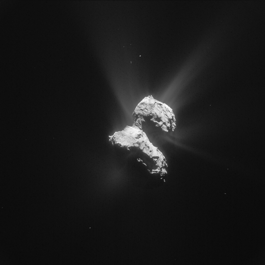 Processed image of Comet 67P/C-G taken by Rosetta's NAVCAM on May 21, 2015. Image Credit: ESA/Rosetta/NAVCAM – CC BY-SA IGO 3.0