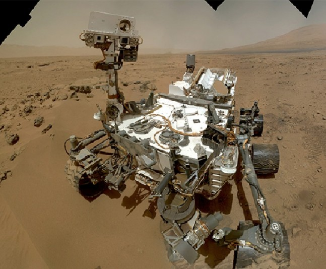 The Mars Curiosity rover's self portrait. Photo Credit: NASA