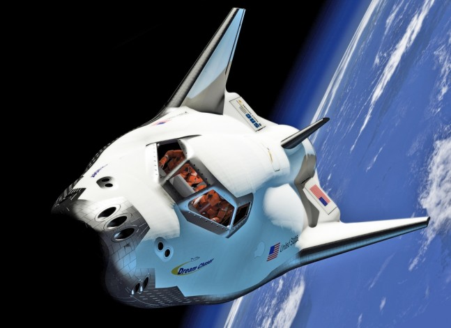 Dream-Chaser-SNC-spaceplane on orbit above Earth Sierra Nevada Corporation image posted on SpaceFlight Insider