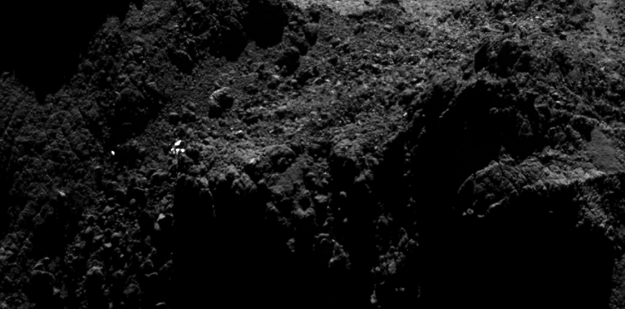 Is this bright spot really the Philae lander?