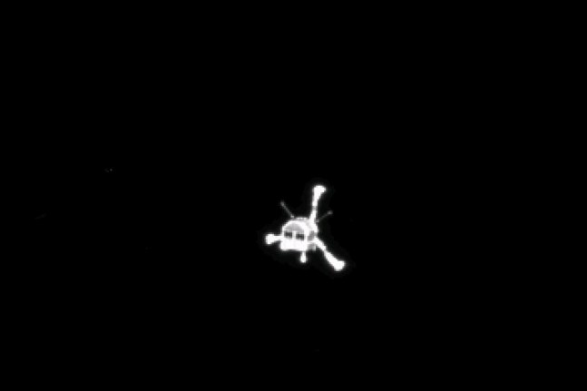 Philae's descent as seen on Spaceflight Insider