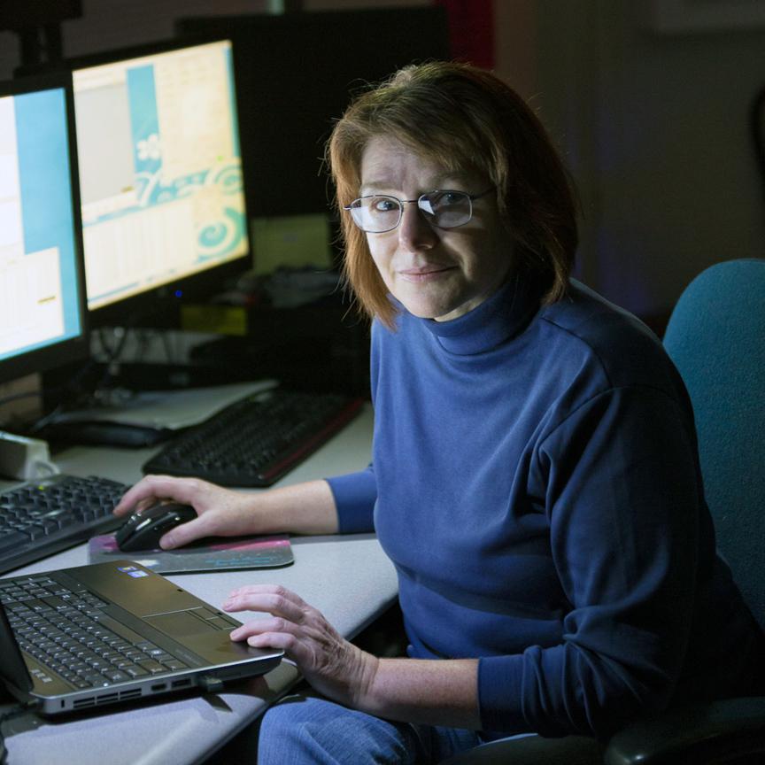 Judit Györgyey-Ries at the McDonald Observatory