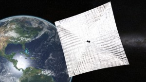 Artist's conception of LightSail in orbit. Image Credit: Josh Sprading/The Planetary Society